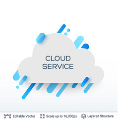White badge cloud service sticker vector