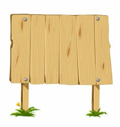 wooden blank board vector image