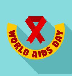 world aids day logo set flat style vector image
