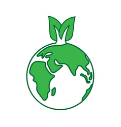 world earth day concept eco vector image