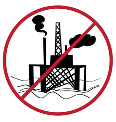 ban oil plant vector image vector image