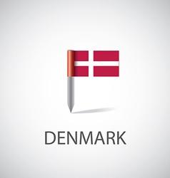 Denmark flag pin vector