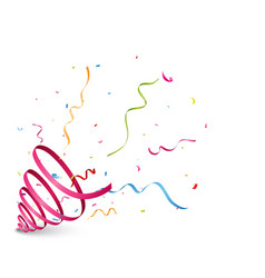 exploding party popper with ribbon vector image