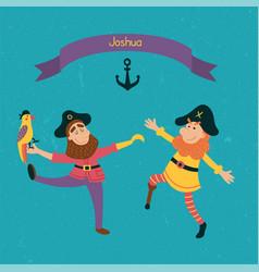 joshua pirates vector image vector image