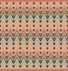 seamless zigzag pattern with circles vector image vector image