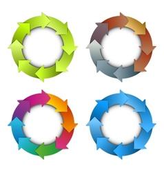 Circle arrows chart vector image vector image