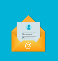 email login screen concept vector image