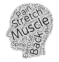 Exercise Your Back Pain Away text background vector image vector image