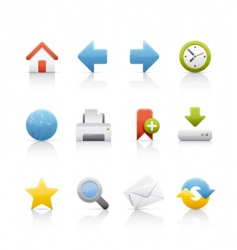 icon set web and internet vector image vector image