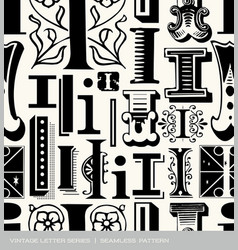 seamless vintage pattern letter I vector image