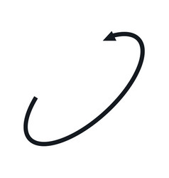 vr 360 degree panoramic arrow symbol vector image