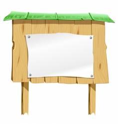 wooden blank board vector image