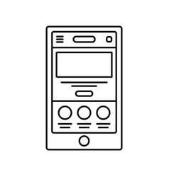 mobile website wireframe lined icon touch device vector image