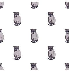 raccoonanimals single icon in cartoon style vector image