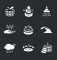 set of water treatment icons vector image vector image