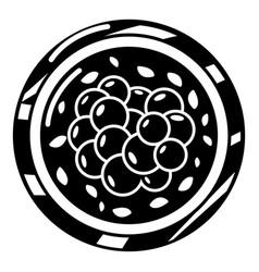 sushi caviar icon simple black style vector image vector image