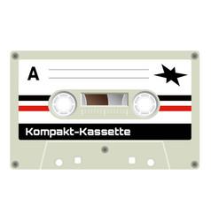 vintage cassette vector image