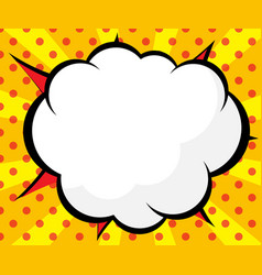 abstract blank comic book pop art background vector image vector image