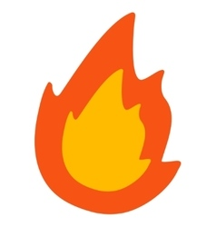 Fire flat icon vector
