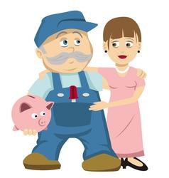 husband wife savings vector image