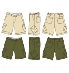 men cargo shorts vector image vector image
