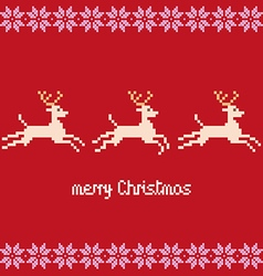 Merry Christmas pixels vector image