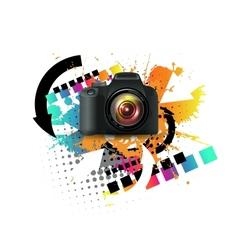 Modern digital camera vector image vector image