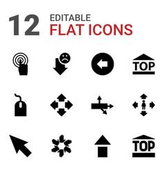12 cursor icons vector