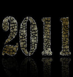 2011 year abstract backround vector image