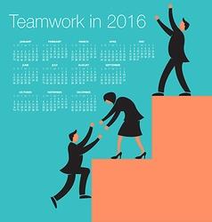 2016 Teamwork calendar vector