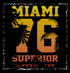 A cool surfing in miami miami surfing design for vector