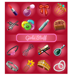 a set of accessories for young girl or bride vector image