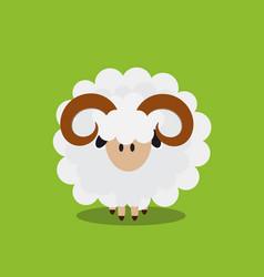 abstract flat sheep icon vector image