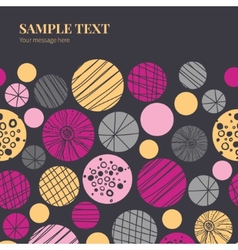 Abstract textured bubbles horizontal frame vector