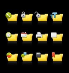 application folders vector image vector image
