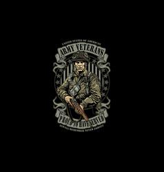 Army veteran 1000 vector