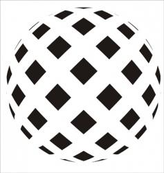 ball icon vector image vector image
