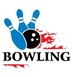 Bowling symbol vector image