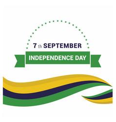 Brazil indpendence day design card vector