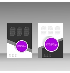 Brochure business style cover template vector image
