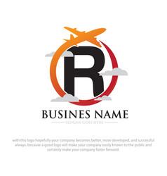 business travel logo designs vector image