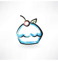 cake grunge icon vector image