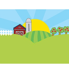 Cartoon farm vector image