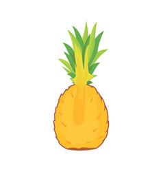 cartoon pineapple on white background flat vector image