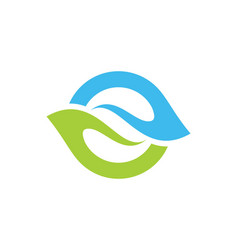 Circle abstract bio logo vector