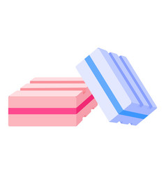 Colorful gums icon cartoon style vector