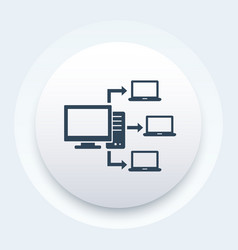 Computer network database server icon vector