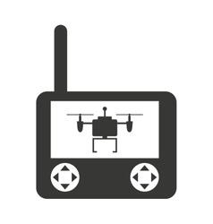 Control remote drone isolated icon design vector