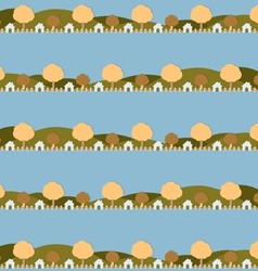 Country Side Life Pattern vector image