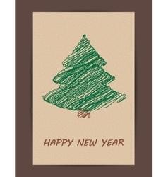 Creative Christmas tree card vector